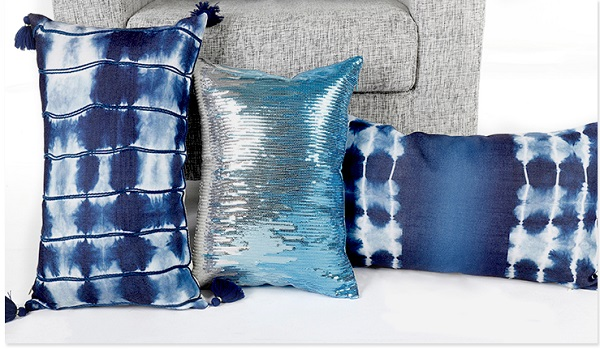 Stripe Ombre Printed Linen Cushion Pillow